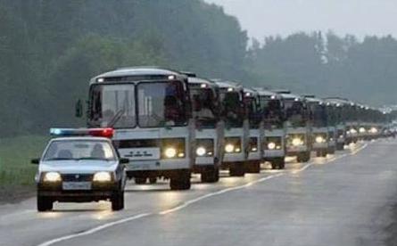 Колонна автобусов с сотрудниками Ольгино едет во Францию голосовать за Марин Ле Пен.